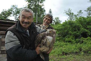 ロシア・ウスリータイガの猟師とシマフクロウ.jpg